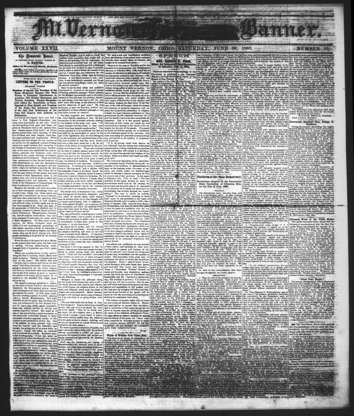 Knox County Divorce forms Brilliant Page 1 Civil War Era Newspapers Of Mount Vernon