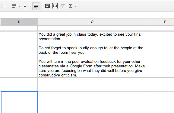 Make A Google form Survey Brilliant Carriage Return In A Google Spreadsheet Teacher Tech