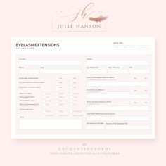 Printable Microblading Consent form Elegant Pinterest