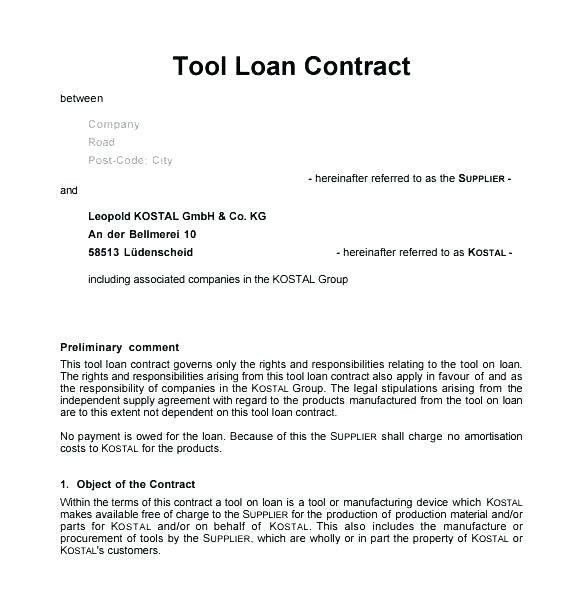 Stipulation Agreement Sample Elegant Sample Supplier Contract Template tool Loan Science