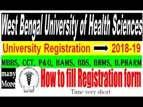 West Bengal University Of Health Sciences Registration form Inspirational Videos Matching West Bengal State University Registration