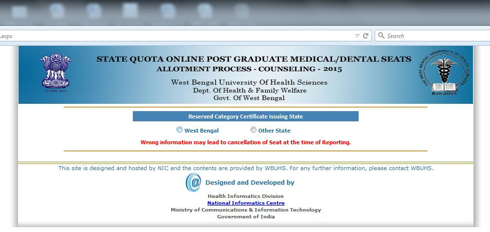West Bengal University Of Health Sciences Registration form Lovely User Manual for Online Counselling Of West Bengal State