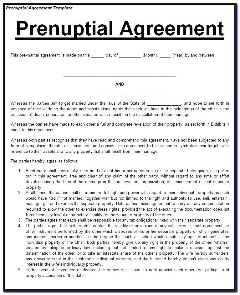 What is A Prenuptial Agreement Awesome Prenup Agreement form – Appily