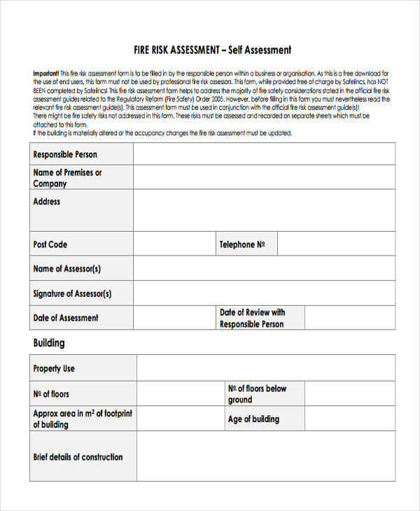 Church Security assessment form Elegant 23 Risk assessment form Examples