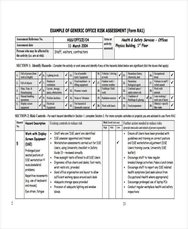 Church Security assessment form Fresh Free 8 Fire Risk assessment form Samples In Sample Example