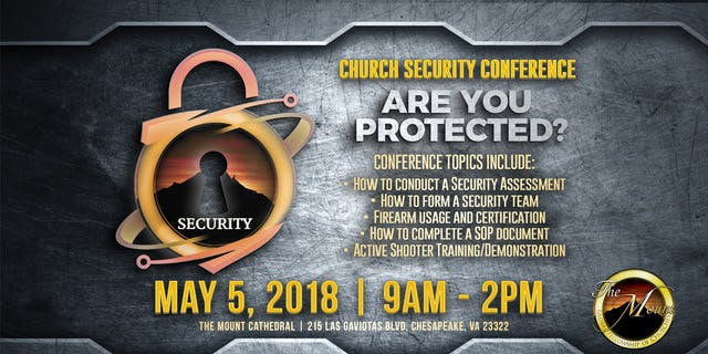 Church Security assessment form Unique Church Security Conference 5 May 2018