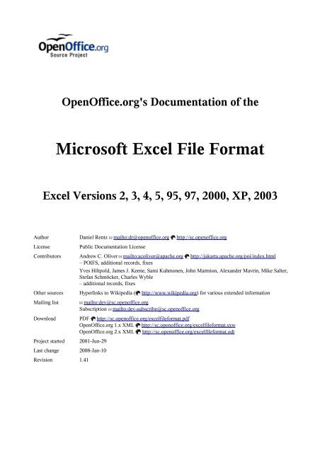 Form A 1 131 Excel Elegant Open Fice S Documentation Of the Microsoft Excel File