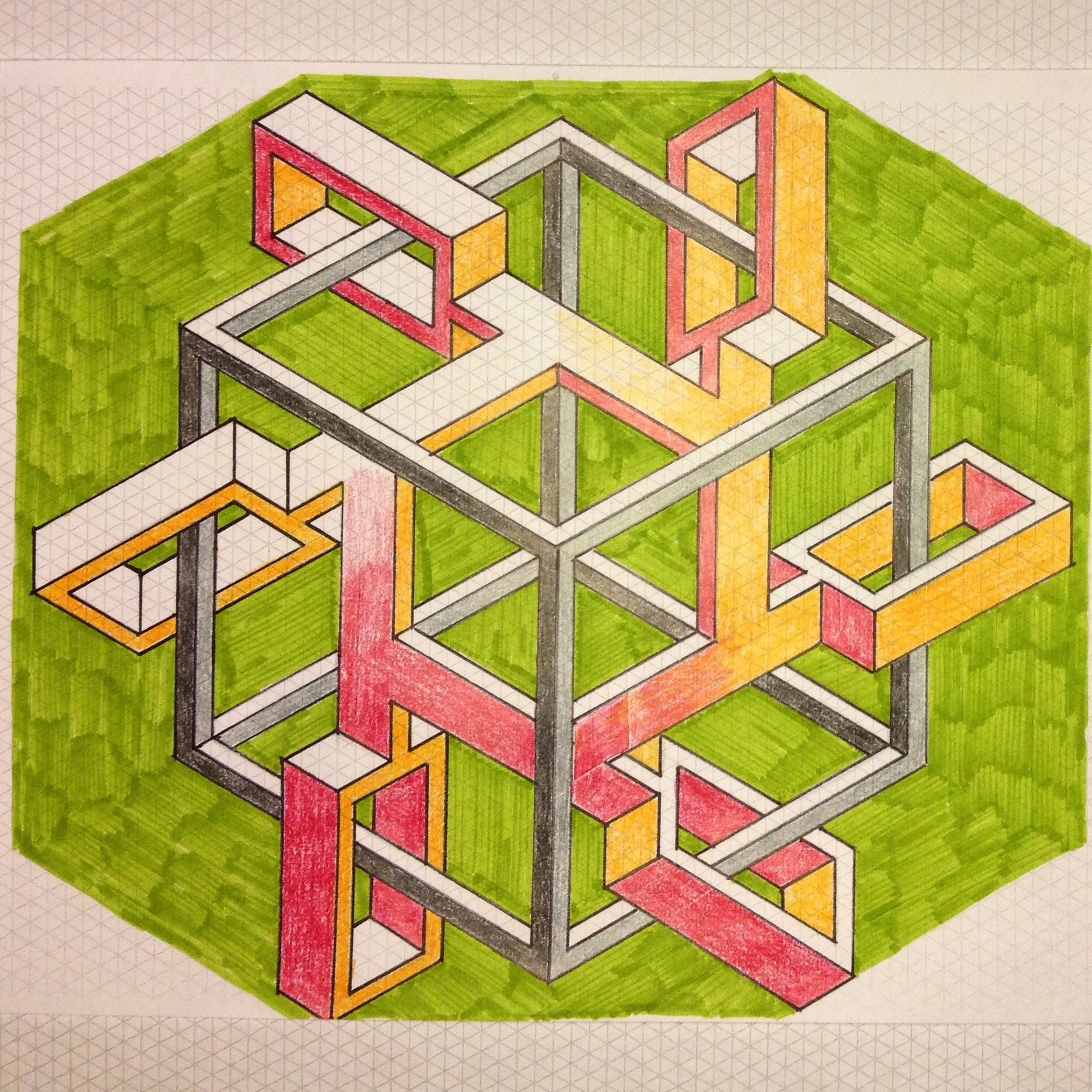 Hexagon Graph Paper Photos Of Regolo54 Impossible isometric Penrosetriangle