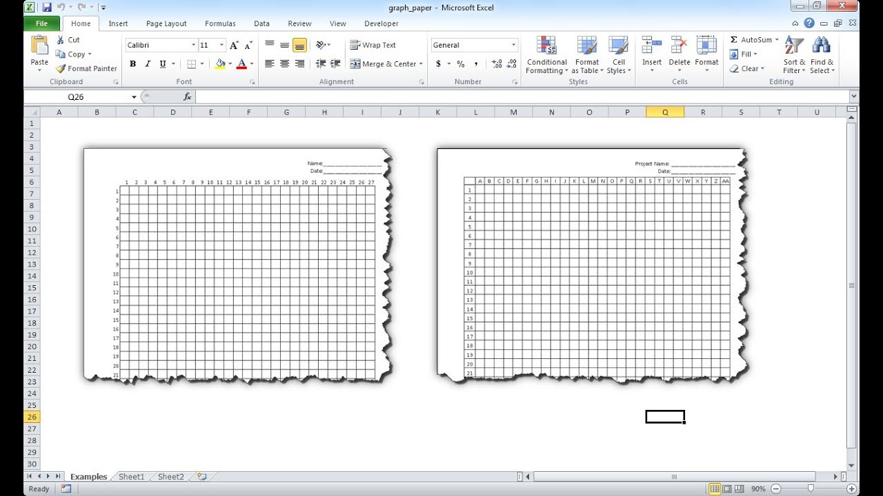 Hexagon Graph Paper Simple How to Make Your Own Graph Paper In Excel Kasmaaigasma