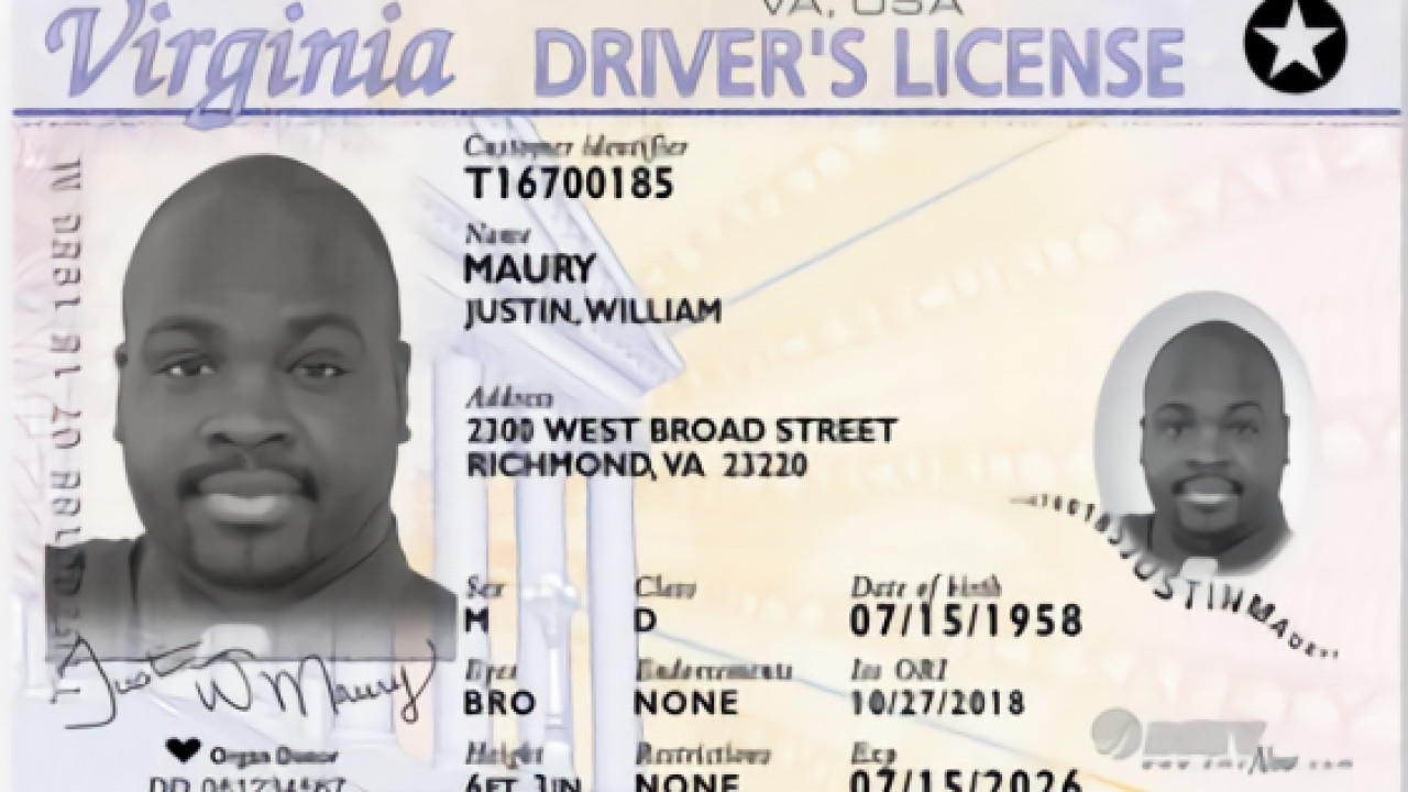 Military Drivers License form New Virginia Department Of Motor Vehicles Begins issuing Real Id