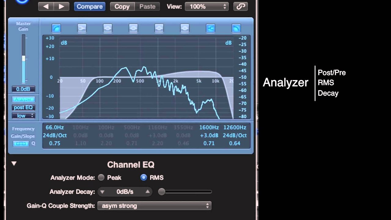Sound Frequency Chart Creative Channel Eq In Logic Pro X Basic Setup and Frequency Analyzer