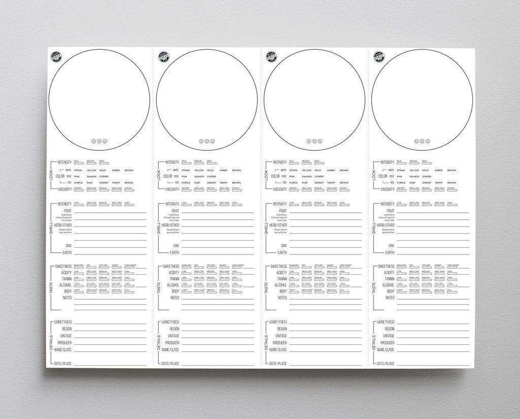 Wine Tasting Score Sheets Gallery Of Wine Placemats for Tasting Free Download