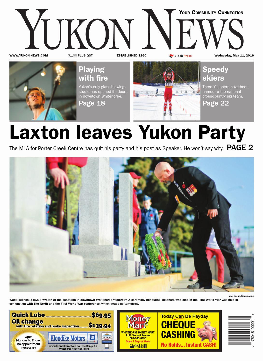 Yukon Department Of Health and social Services Great Yukon News May 11 2016 by Black Press Media Group issuu