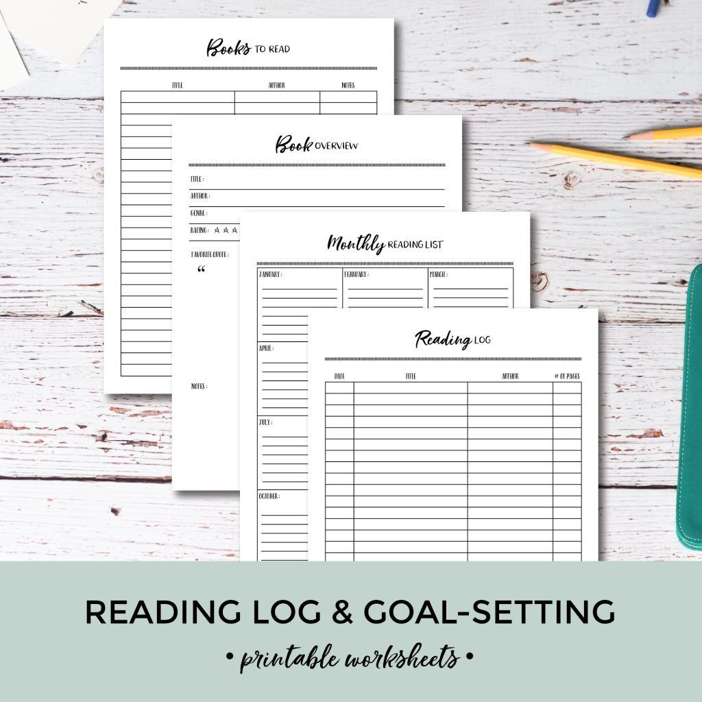 5th Grade Reading Log Wonderful Printable Reading Log & Goal Setting Worksheets