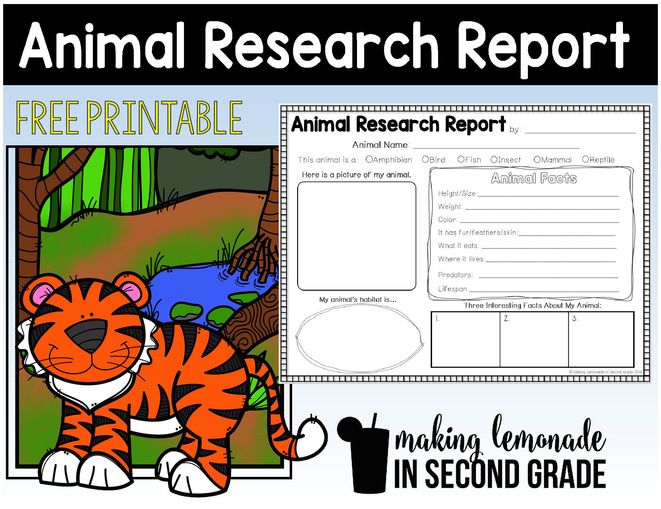 Animal Report Template Photos Of Animal Research Report Printables