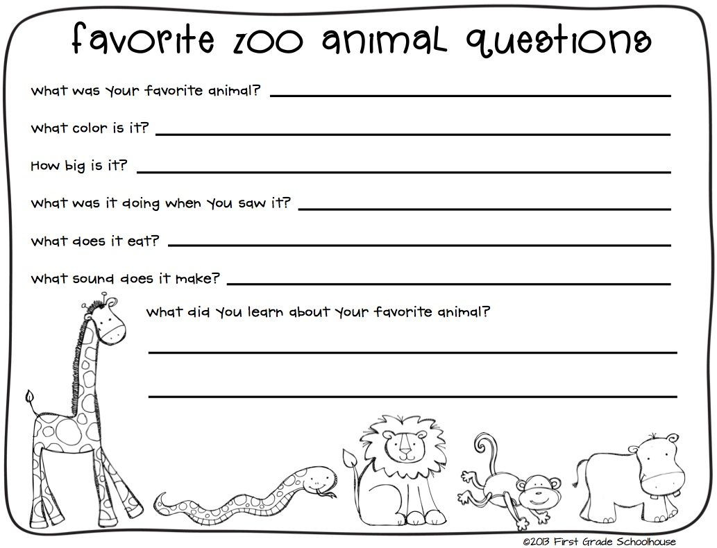 Animal Report Template Photos Of Zoo Animals Writing