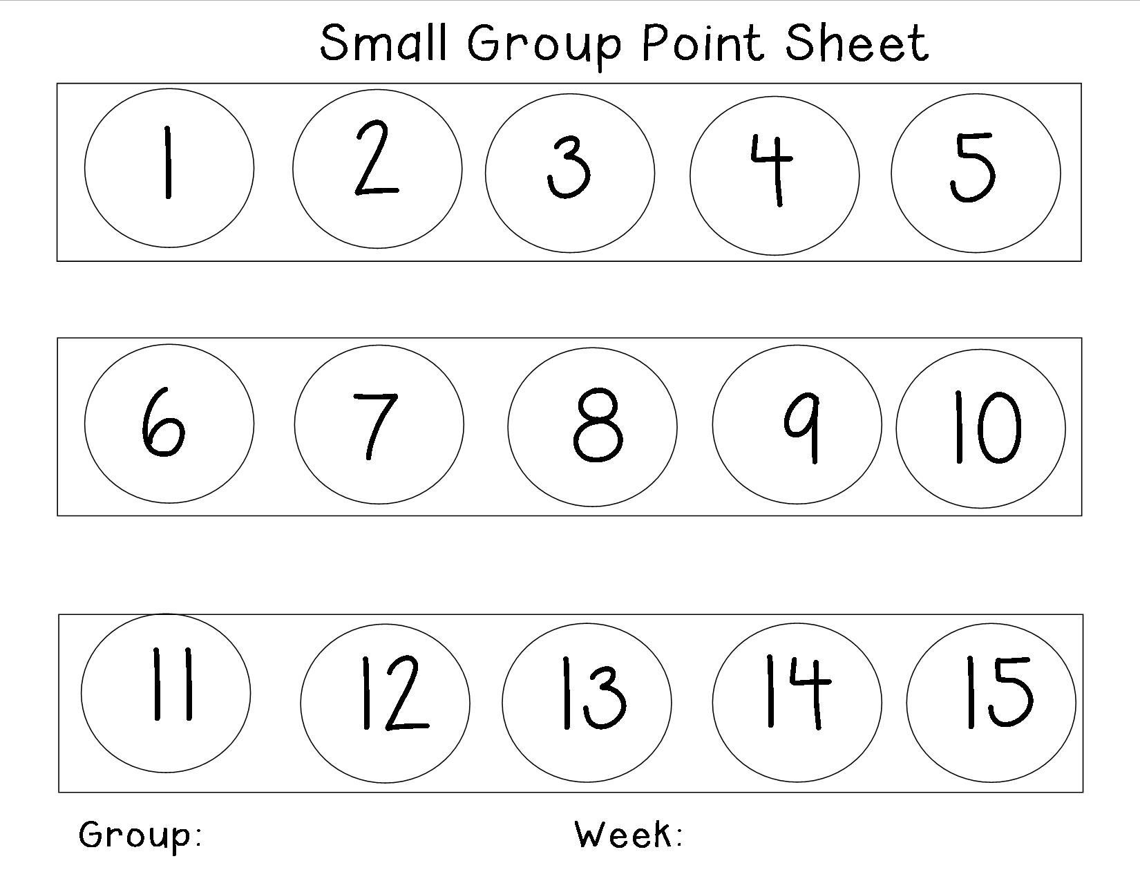 Behavior Charts for Home Awesome Behavior Management Point Sheet for Small Groups It Can Be
