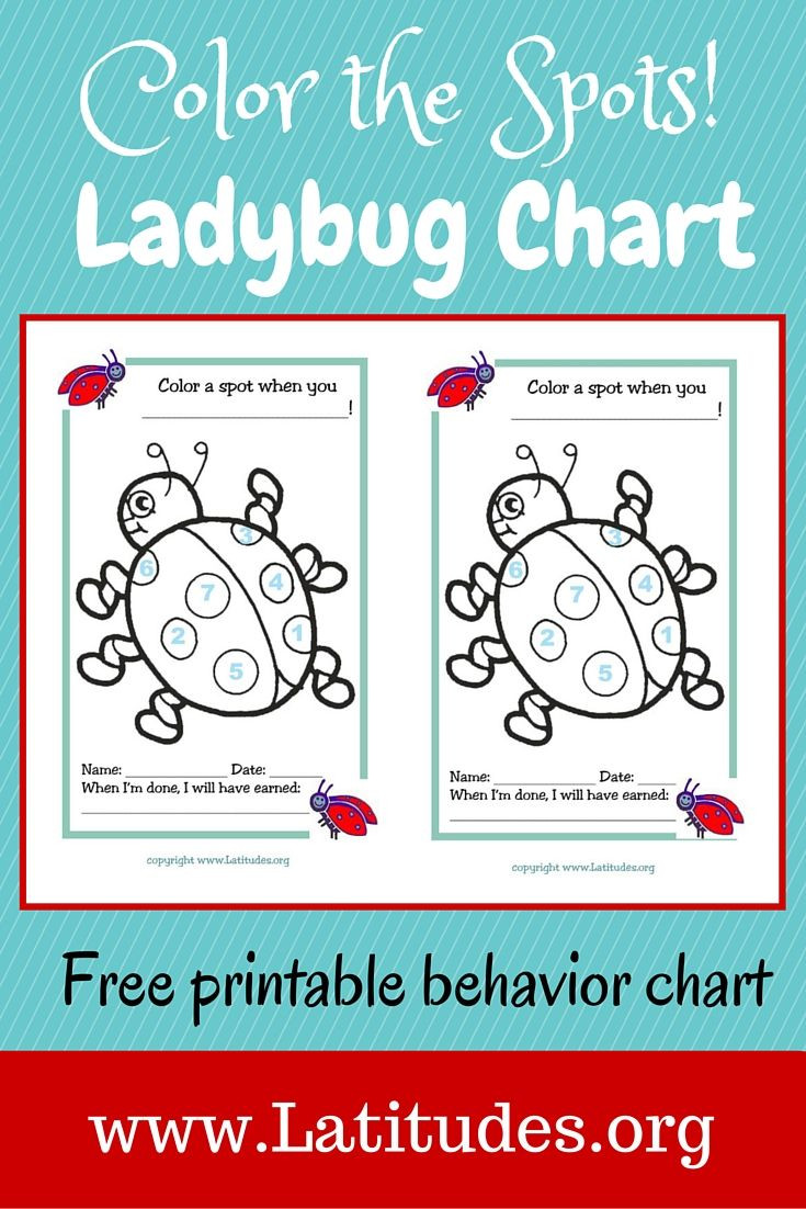 Behavior Charts for Home Excellent Free Behavior Chart Color Ladybug Spots