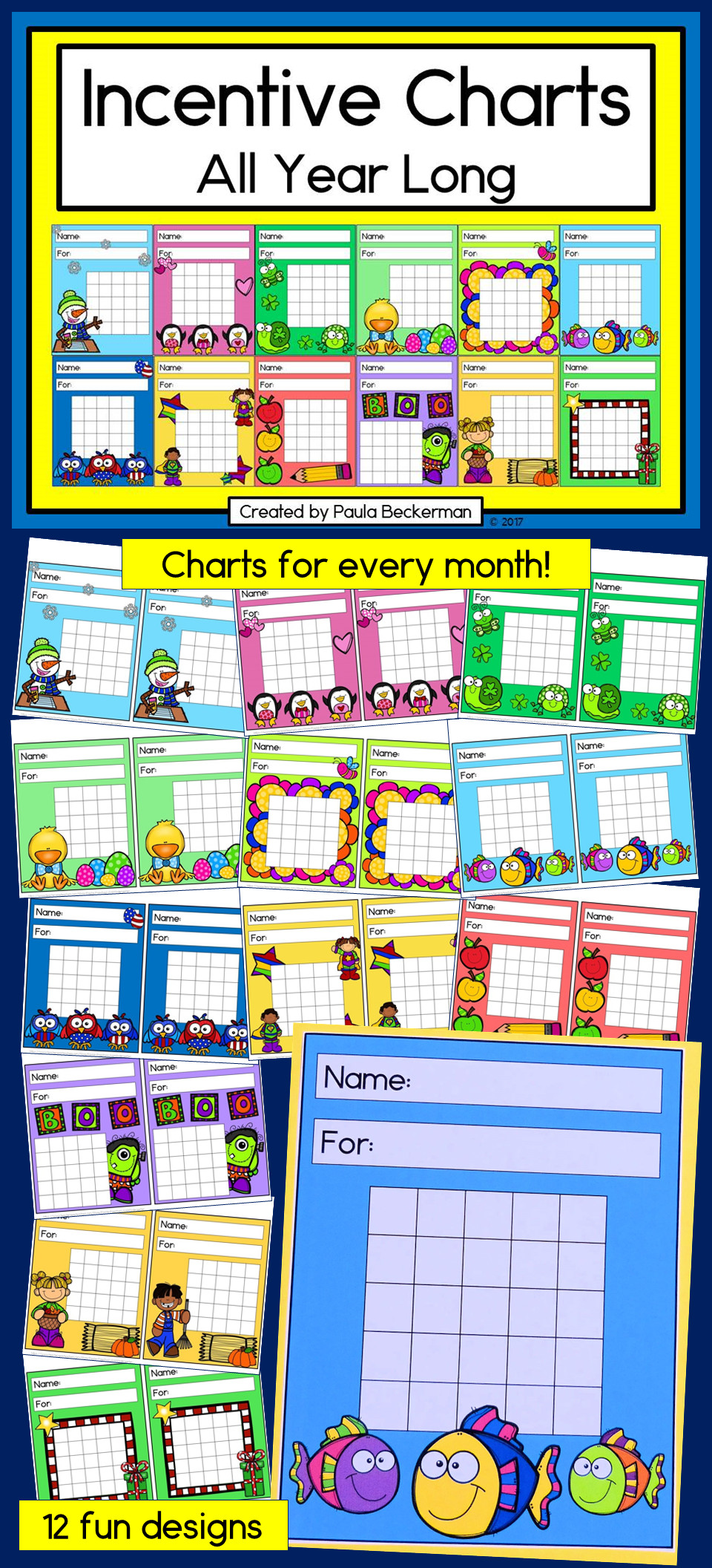 Behavior Charts for Home Wonderful Incentive Charts All Year Long