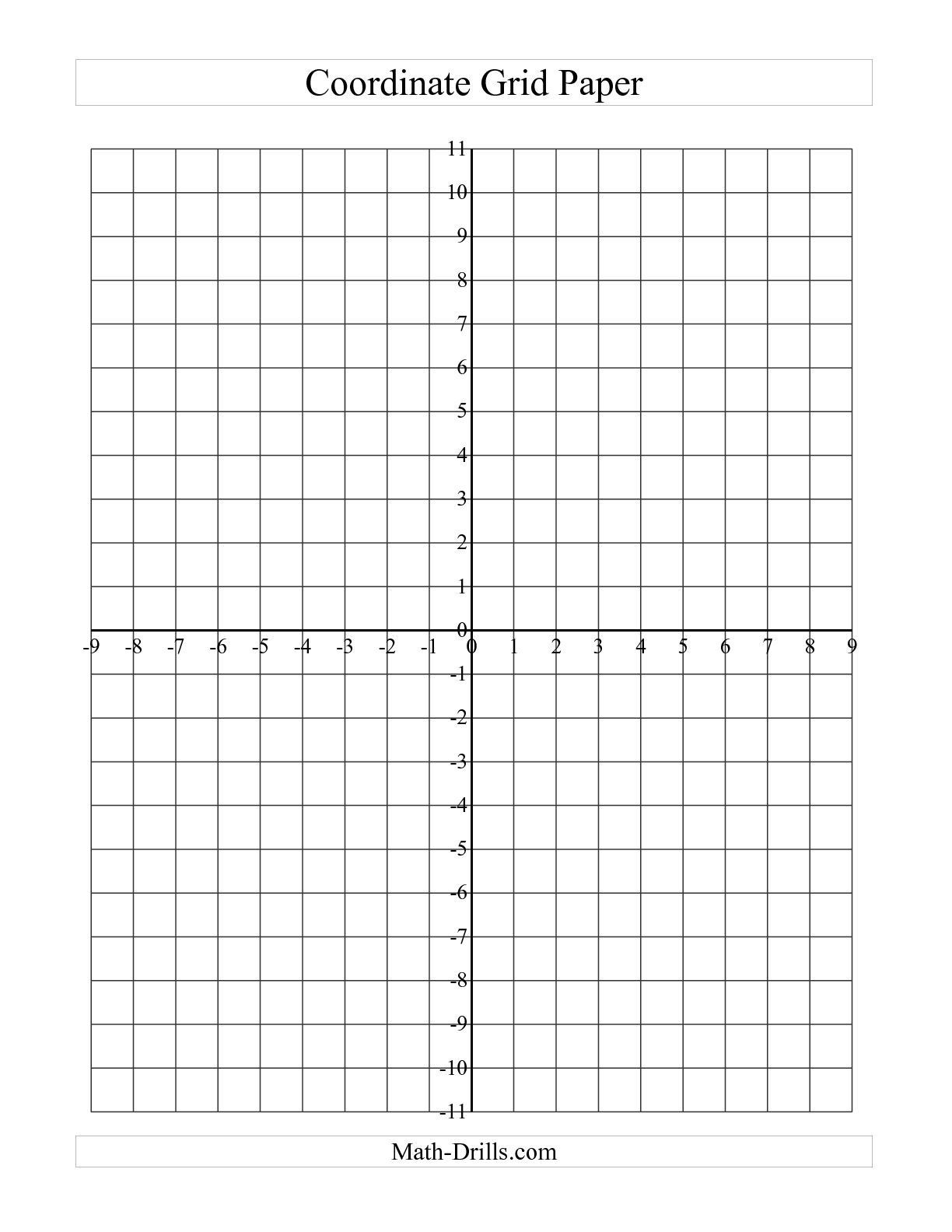 Blank Bar Graph Paper Cool the Coordinate Grid Paper Grid A Math Worksheet