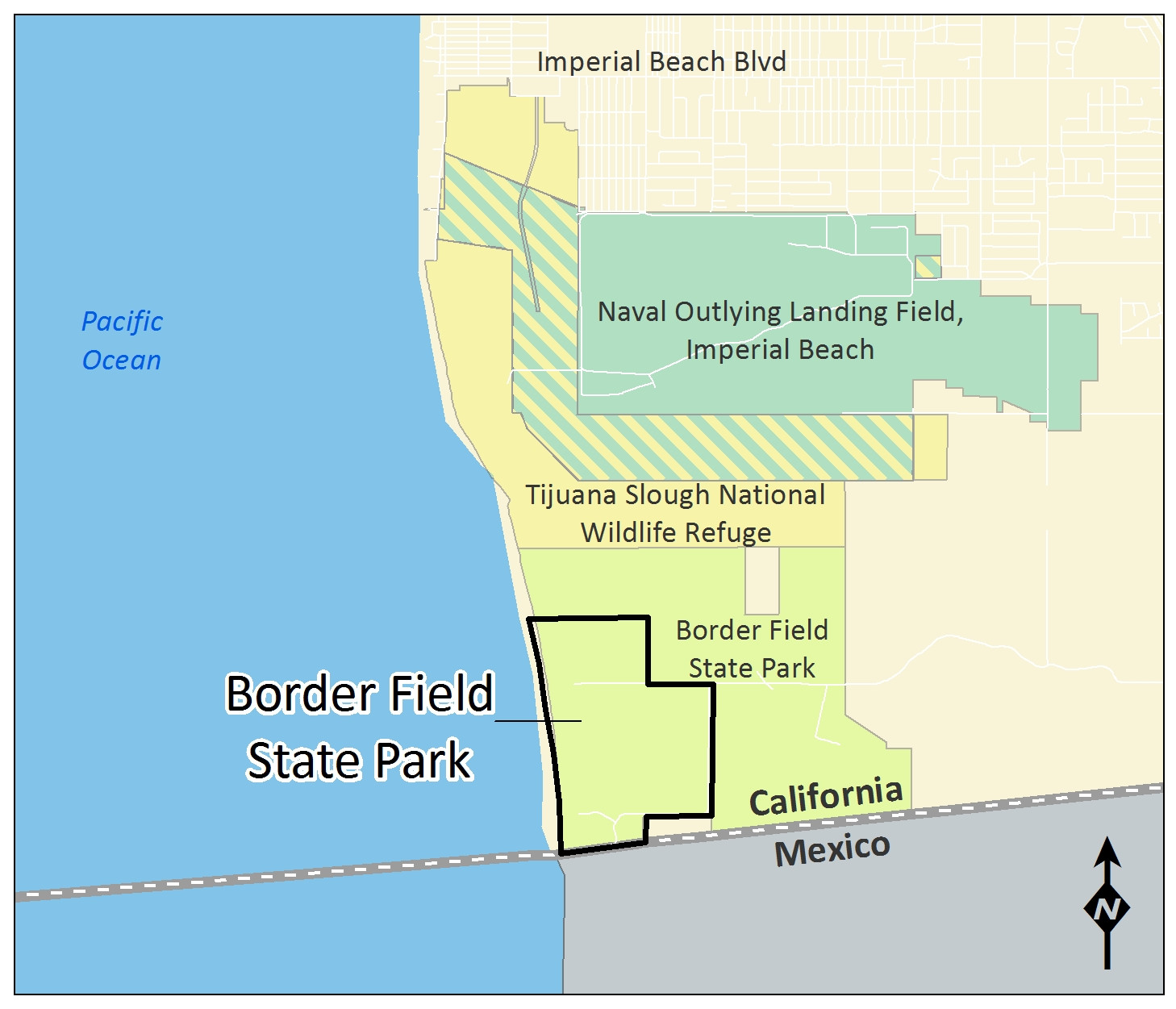 California Department Of Parks and Recreation Easy Borders Field State Park