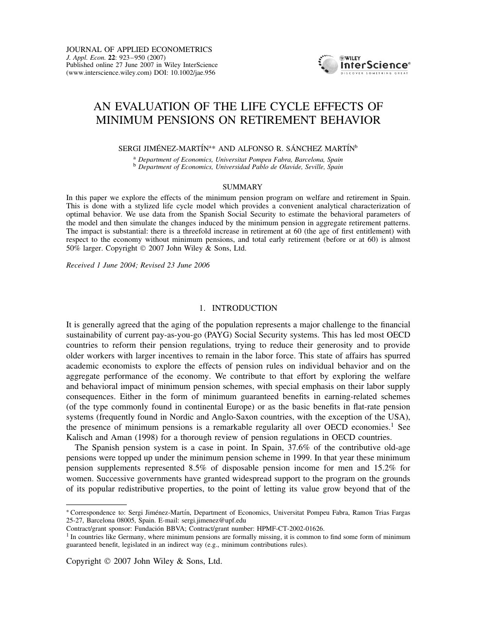 Connecticut Department Of Labor Unique An Evaluation Of the Life Cycle Effects Of Minimum Pensions