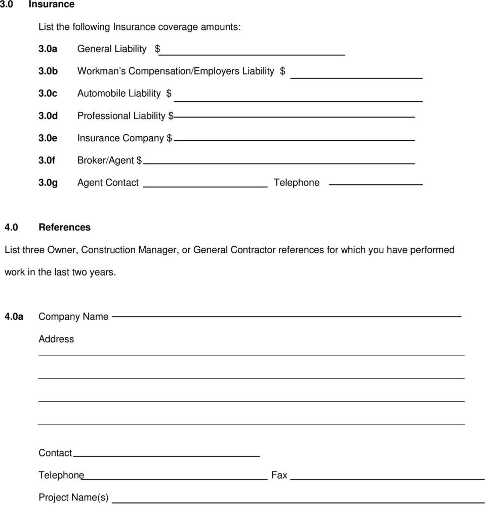 Contractor Application form top Contractor Prequalification Overview Pdf Free Download