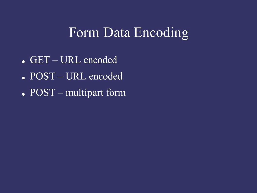 Data Request form Awesome form Data Encoding Get – Url Encoded Post – Url Encoded