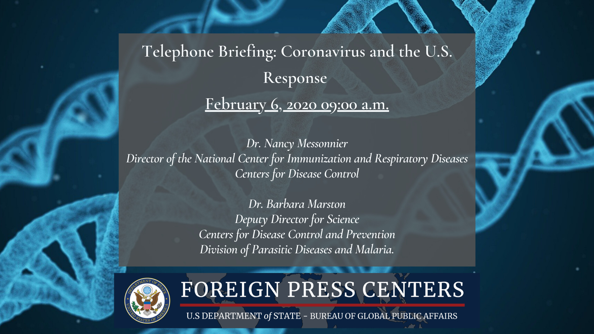 Georgia Department Of Early Care and Learning Easy Telephone Briefing Coronavirus and the U S Response