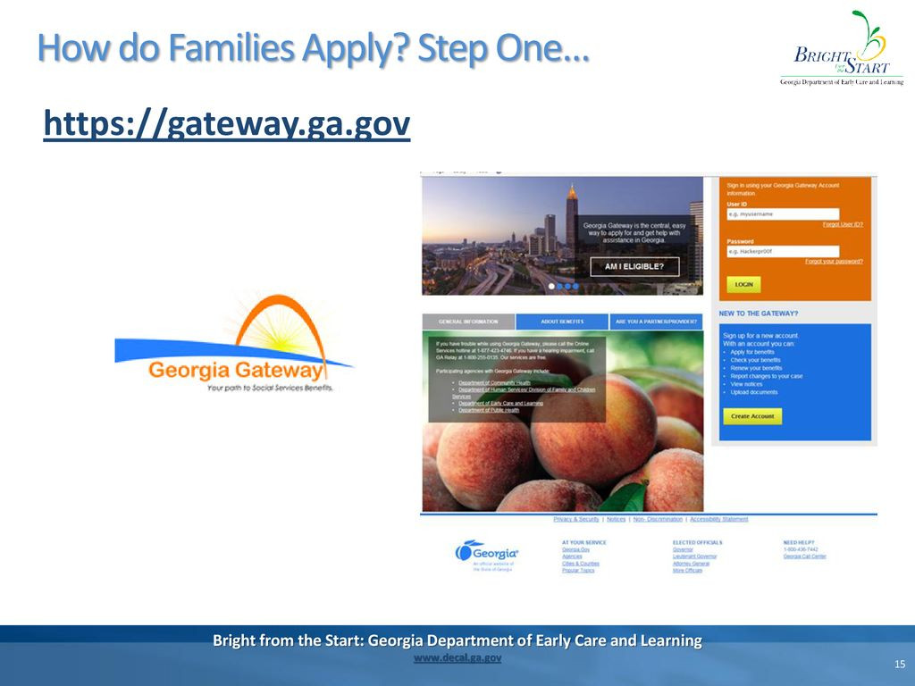 Georgia Department Of Early Care and Learning Perfect Childcare and Parent Services Caps Ppt