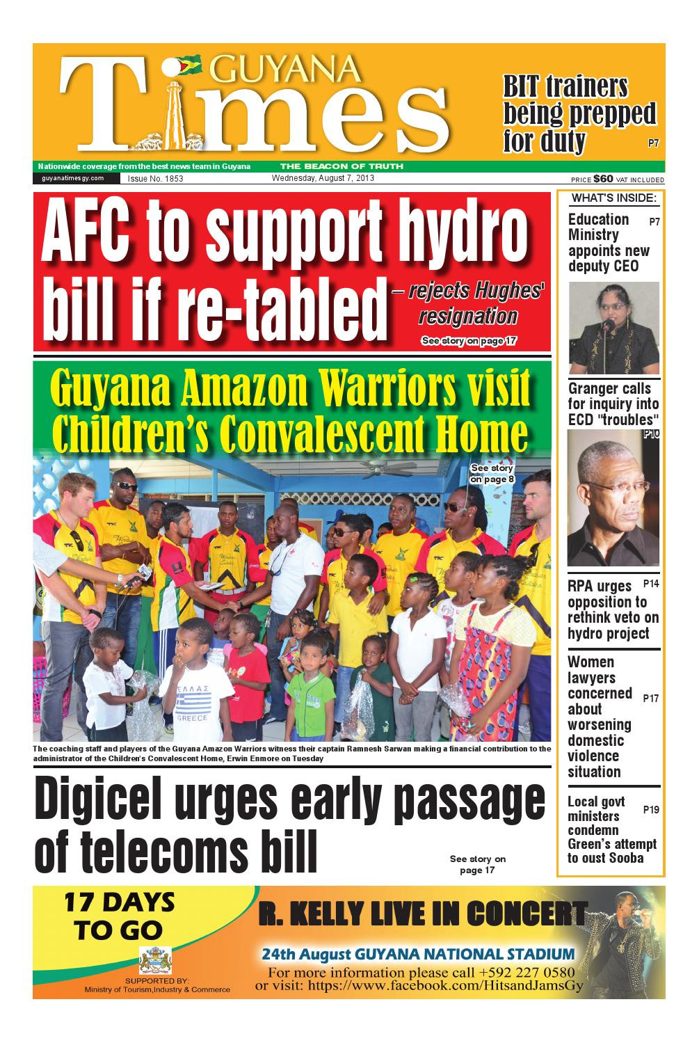 Guyana Department Of Public Information Perfect Guyana Times Daily by Gytimes issuu