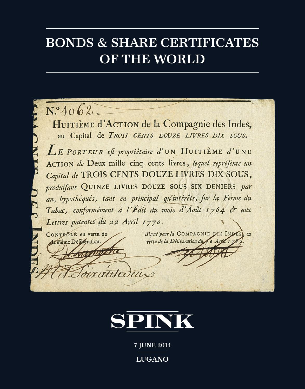 Guyana Legal forms Wonderful Sw1012 Bonds & S Certificates Of the World by Spink