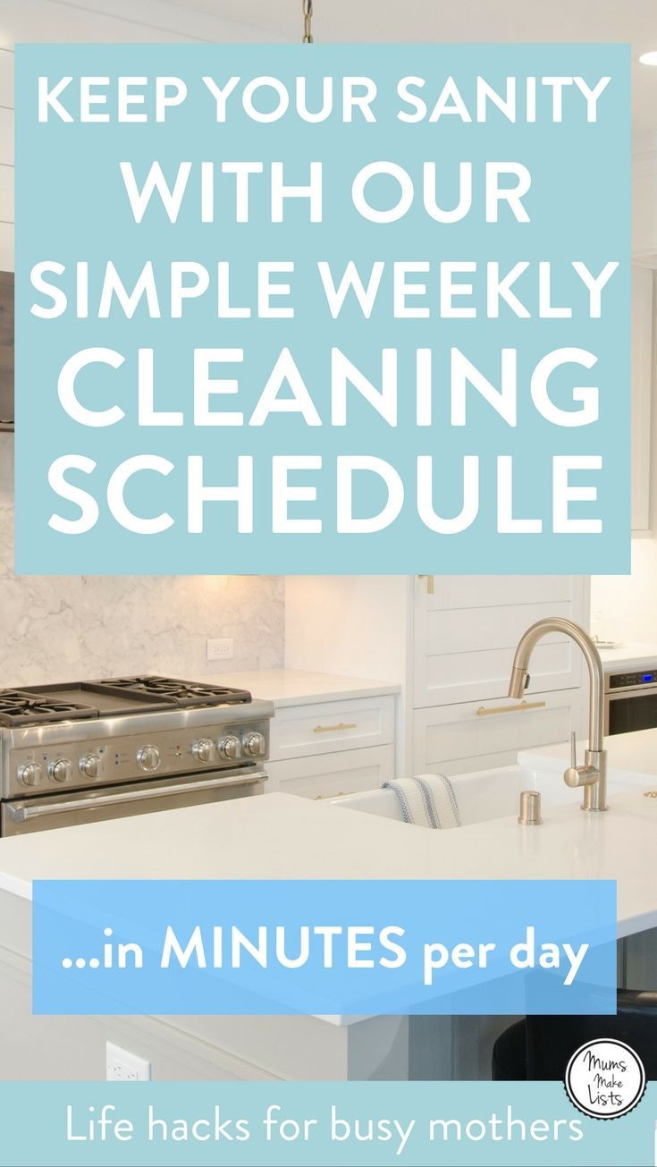 House Cleaning Schedule New Simple Weekly Cleaning Schedule