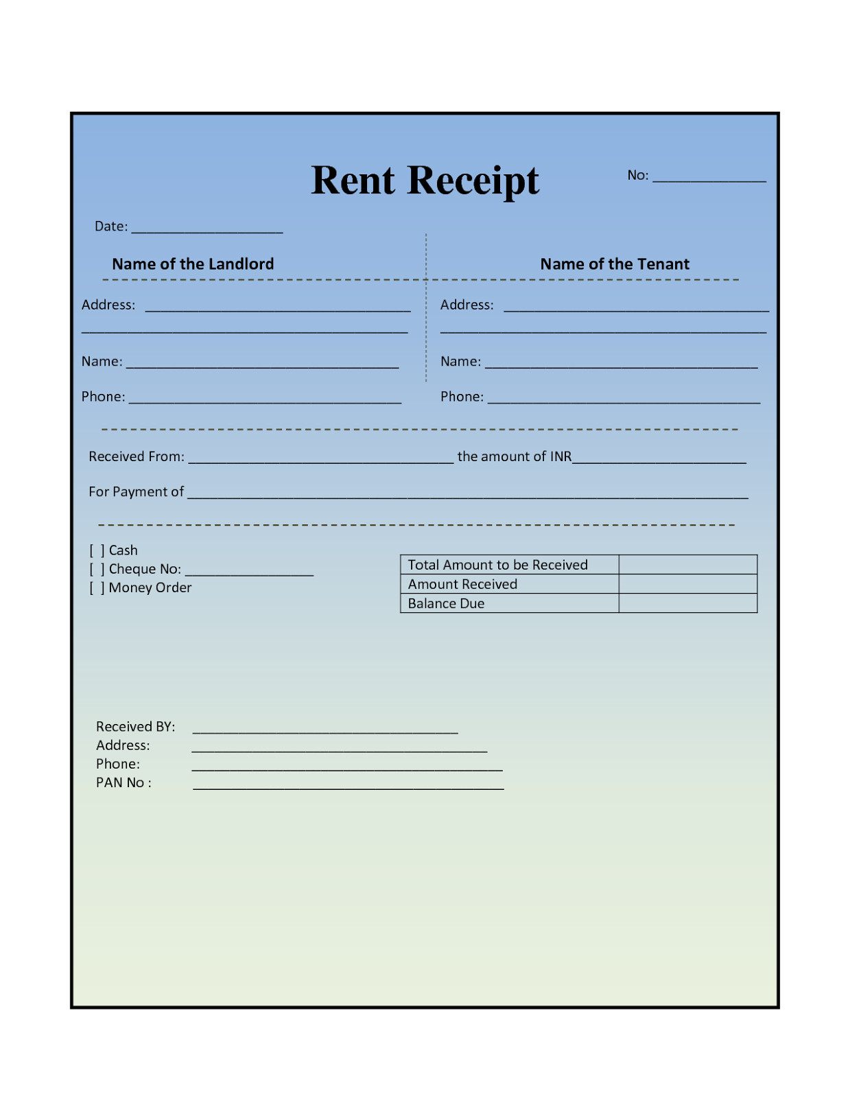 House Rent Receipt Template Excellent Rent Payment Excel Spreadsheet Free House Rental Invoice