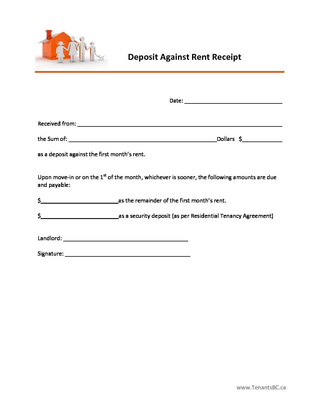 House Rent Receipt Template Impressive Free Rent Receipt Template and What Information to Include