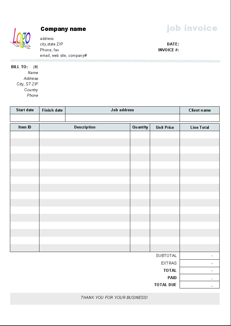 House Rent Receipt Template Wonderful Editable Blank Invoice Invoice Template