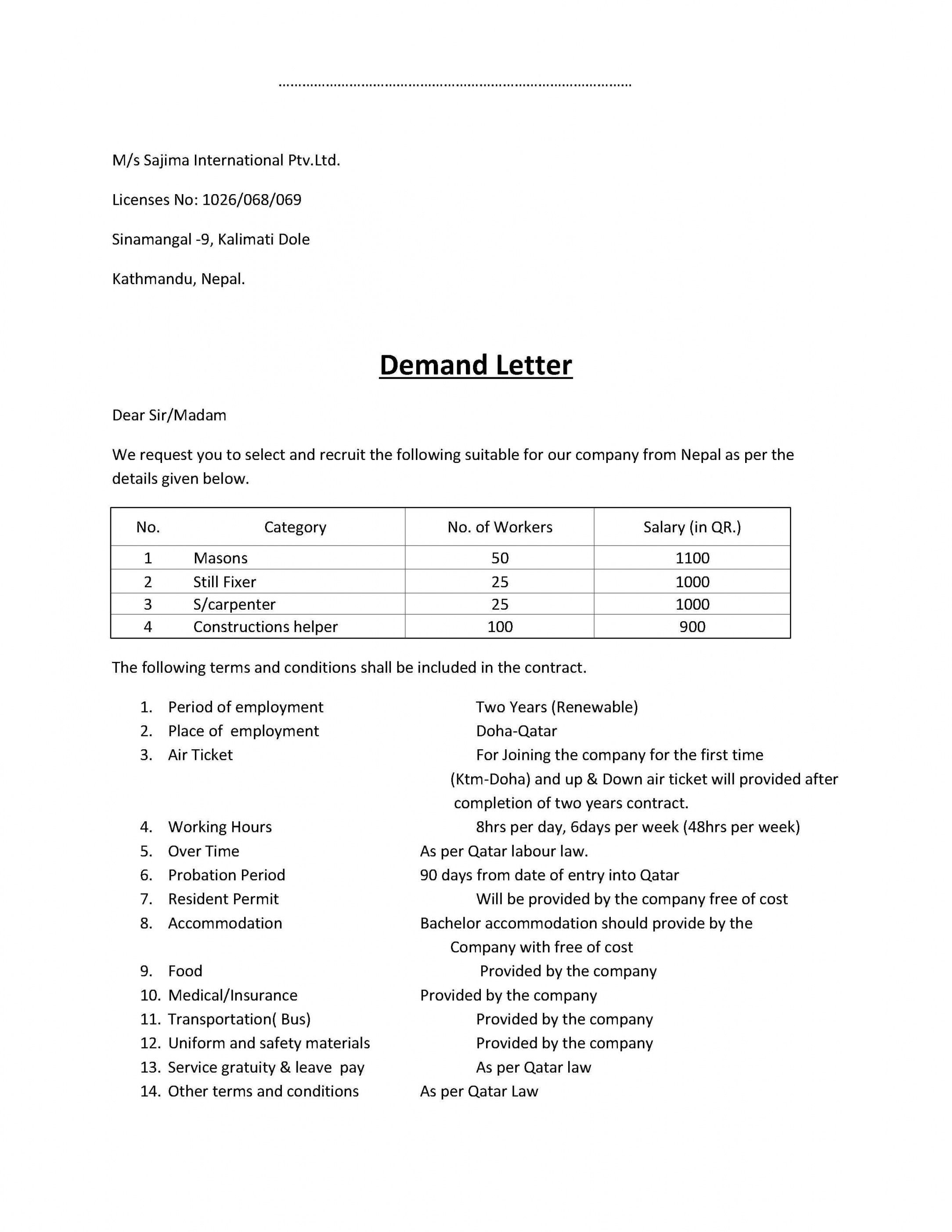 I Owe You Template Elegant Demand Letter Sample Gplusnick Subrogation Demand Letter