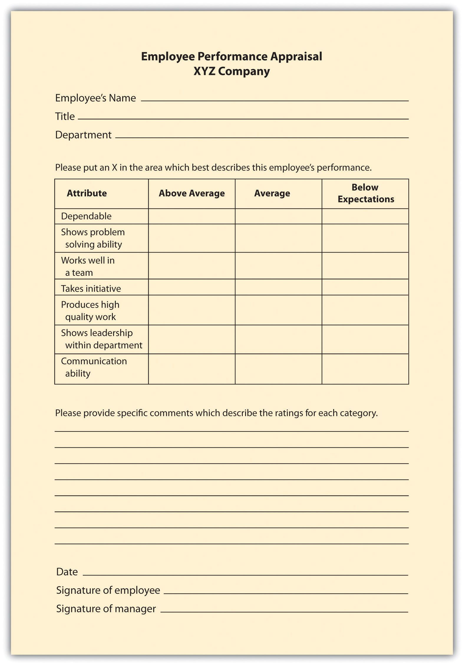 Interview Evaluation form Perfect Examples Of Performance Appraisal Graphic Rating Scale