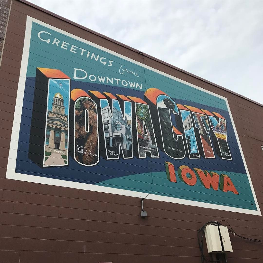 Iowa Board Of Nursing Gallery Of Greetings From Downtown Iowa City the New Mural is On the