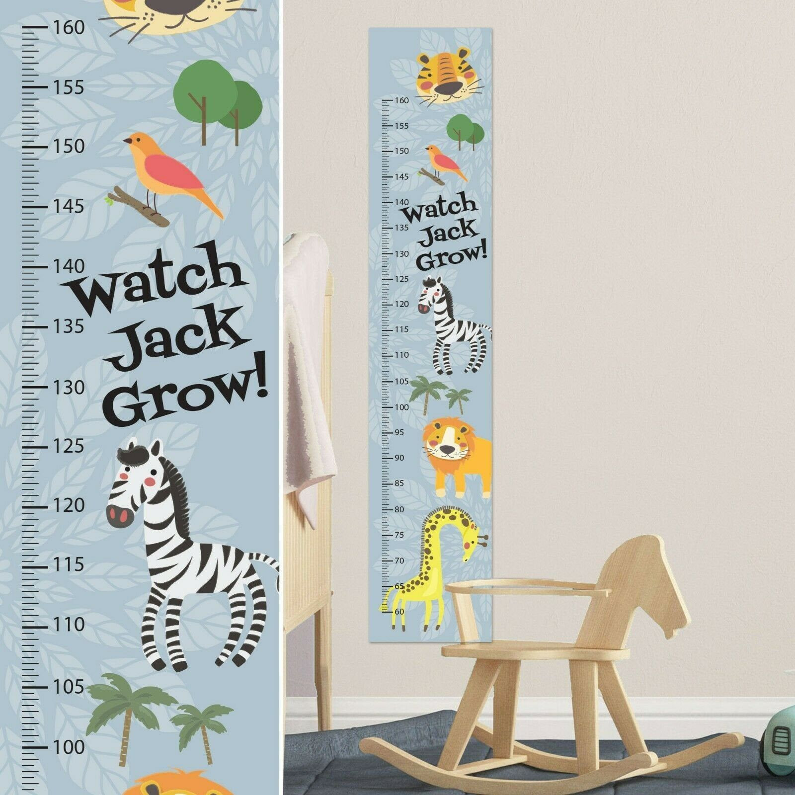 Kids Height Chart Awesome Wildlife Animal Growth Chart Wall Decal Kids Room Growth