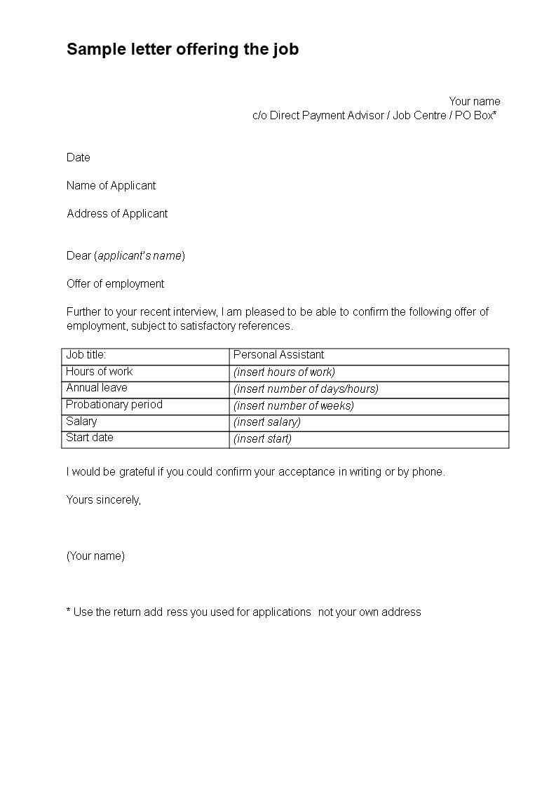 Letter Of Offering New Job Fering Letter How to Create A Job Fering Letter