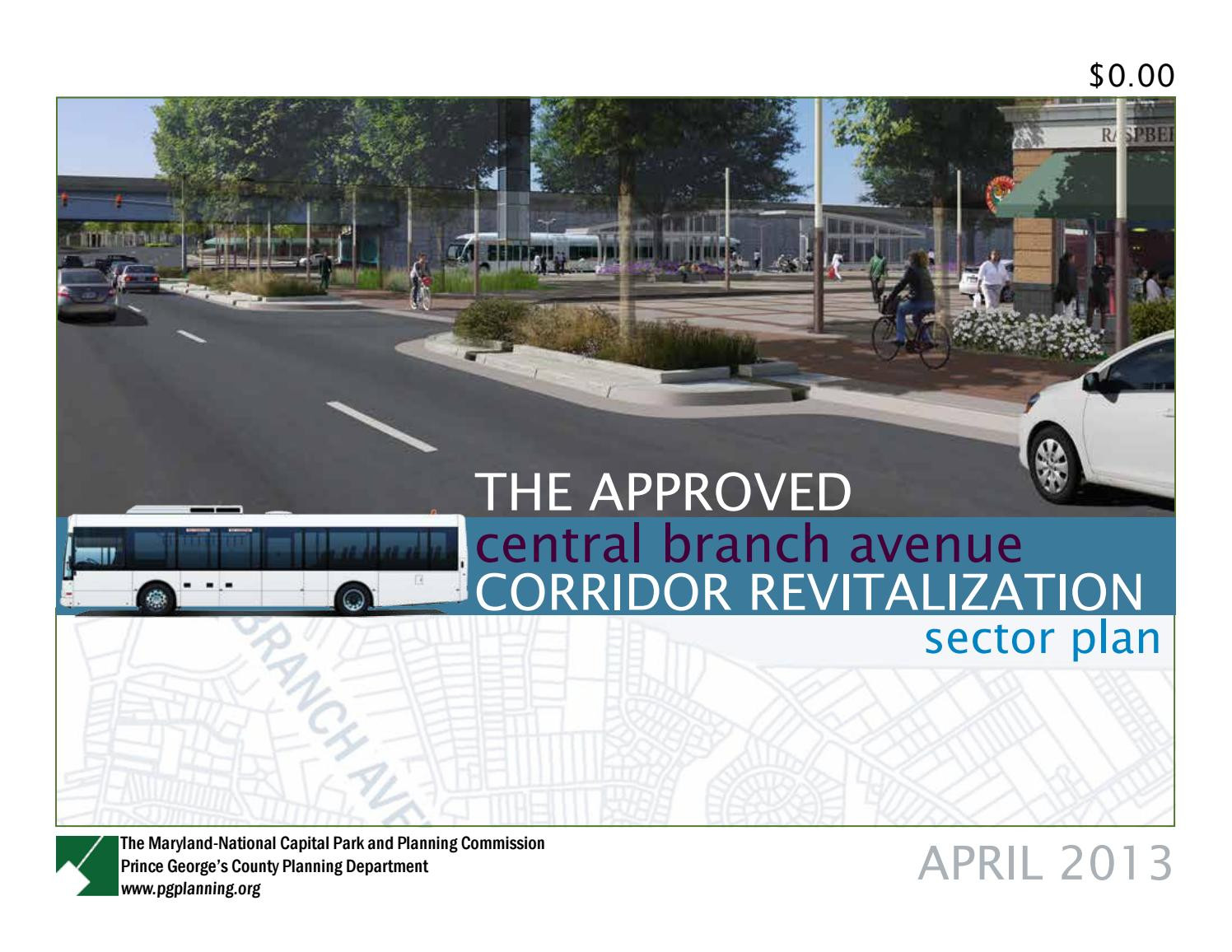 Maryland Department Of Budget and Management Best Approved Central Branch Avenue Corridor Revitalization
