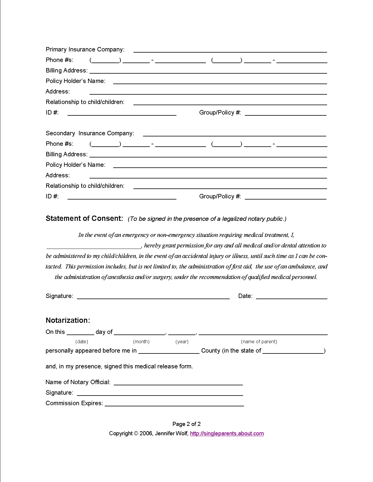 Medical Intake form Elegant why You Should Prepare A Medical Release form for Your Child