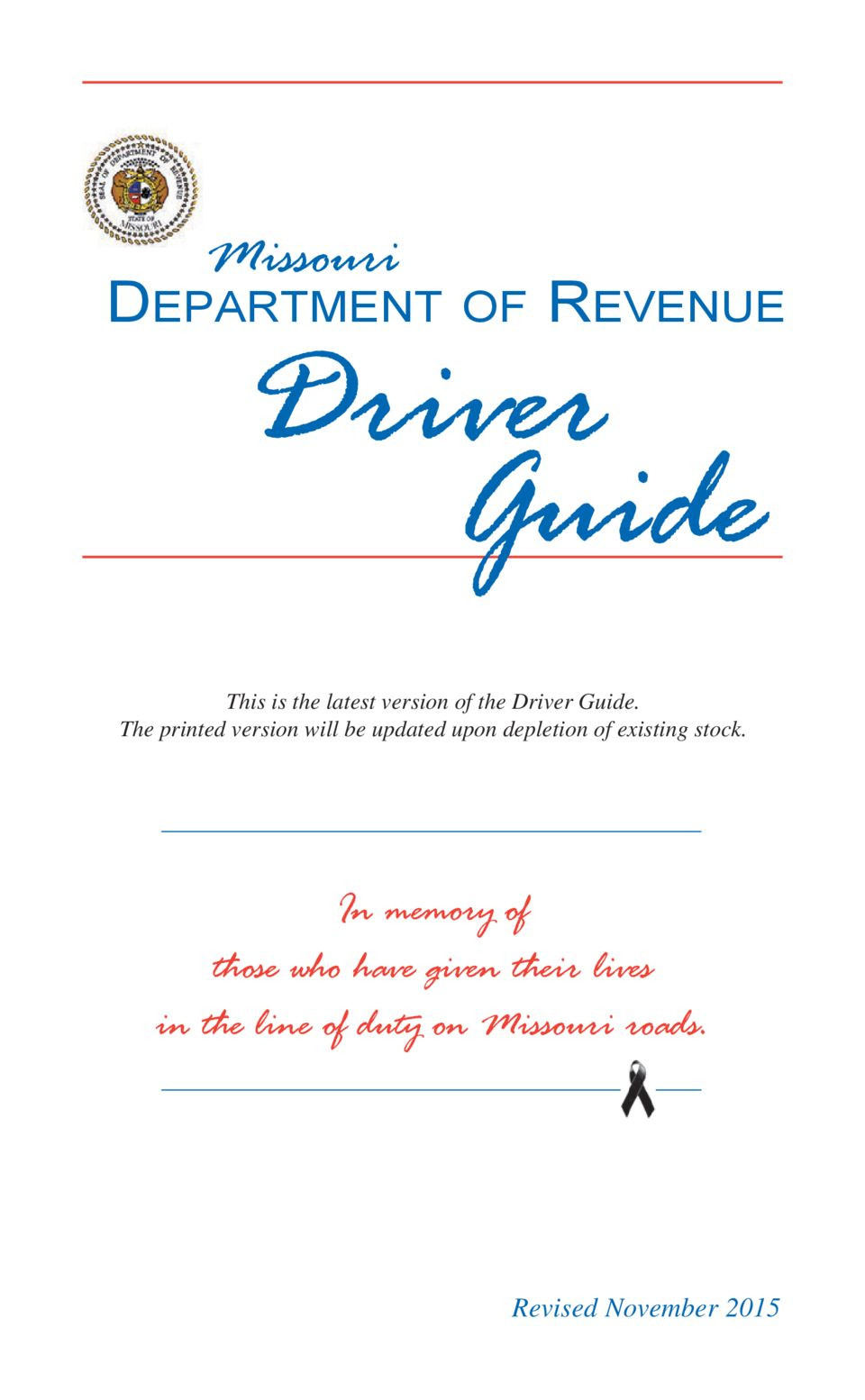Missouri Department Of Conservation Best Missouri Driver Guide Simplebooklet