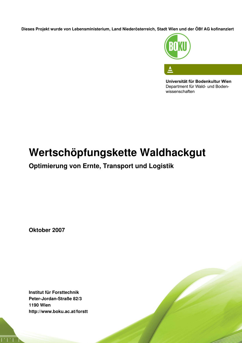 New Brunswick Department Of Transportation and Infrastructure Professional Pdf Wertschöpfungskette Waldhackgut Optimierung Von Ernte