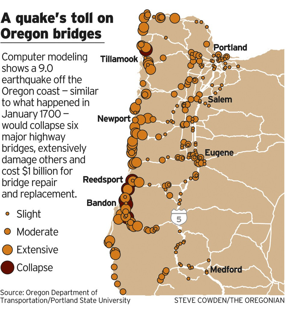 Oregon Department Of Environmental Quality Easy if oregon Sees Another Big One Bridge and Road Failures