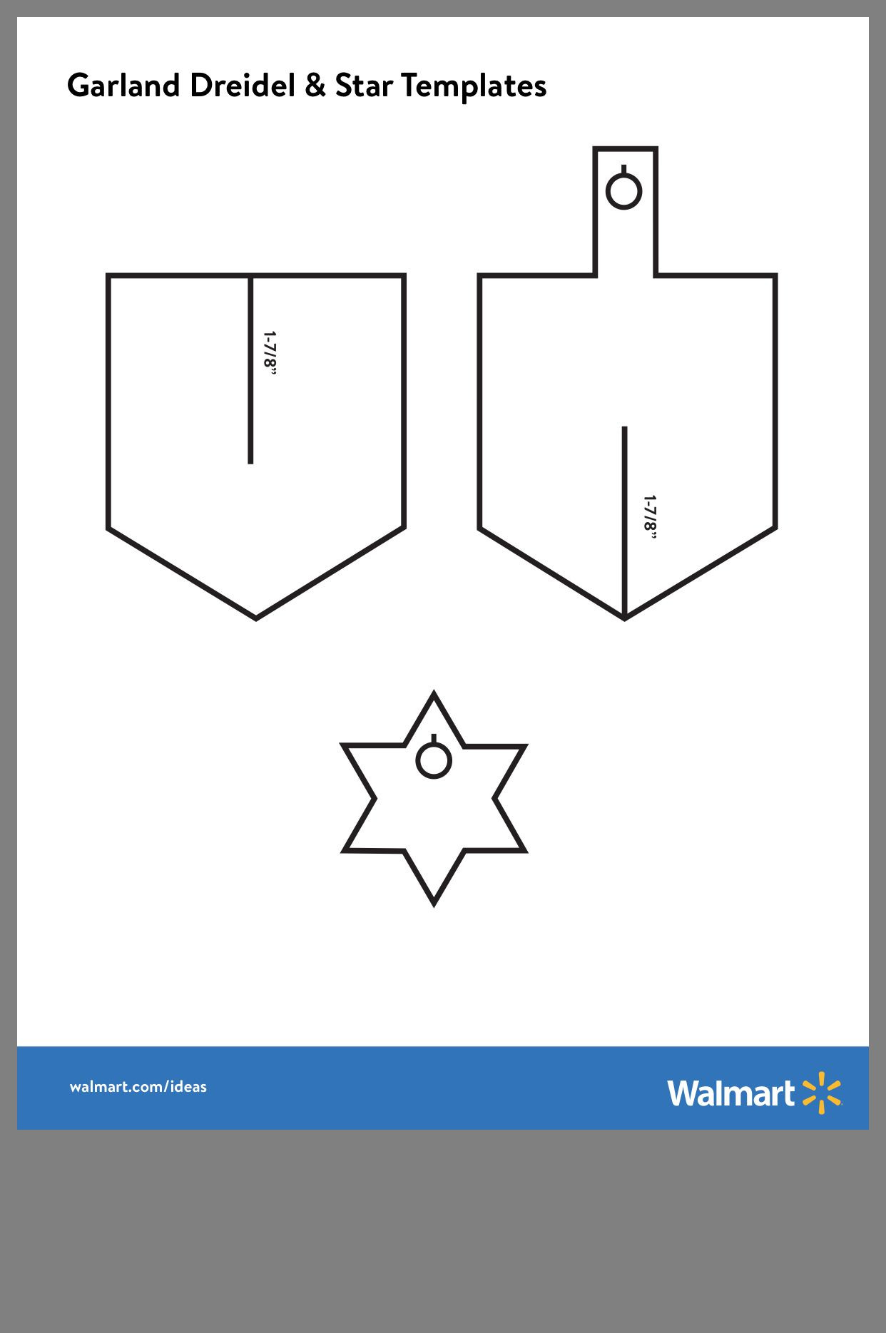 Paper Dreidel Template Gallery Of 323 Best Hanukkah Images