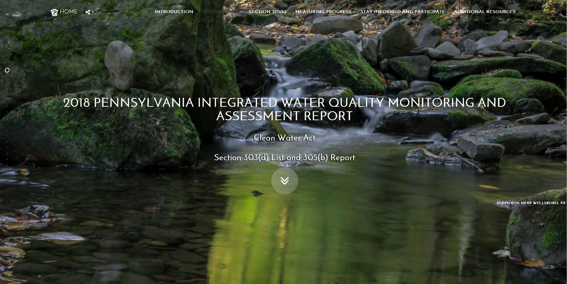 Pennsylvania Department Of Environmental Protection Creative Integrated Water Quality Report 2018