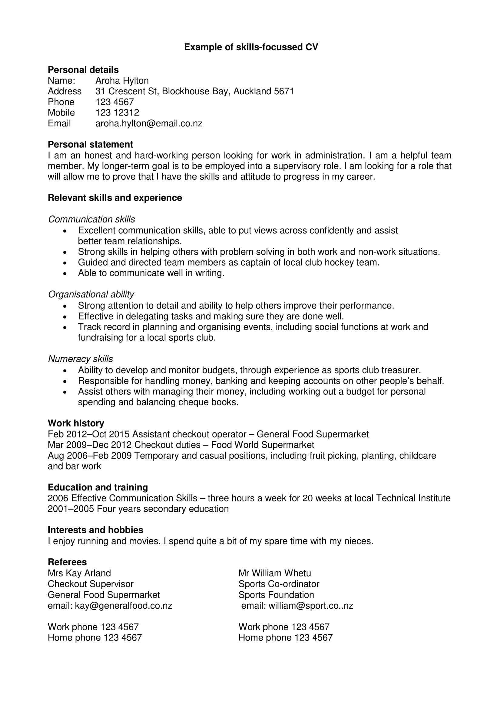 Personal Statement Template Collection 10 Examples Of Personal Statements