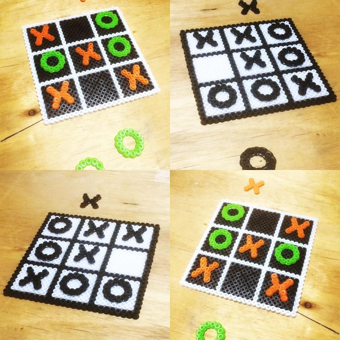 Tic Tac toe Template Easy Tic Tac toe Perler Beads by Perlerkid …